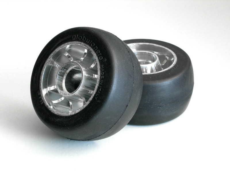 GlobuloNero roller ski wheels classic S1 Minus round
